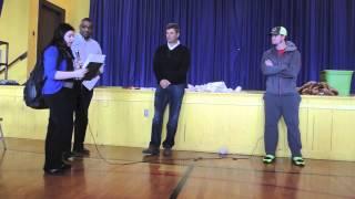 Robin Ventura y Gordon Beckham en la escuela McClellan Elementary School