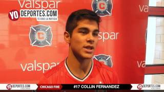 Collin Fernandez Chicago Fire preseason training camp