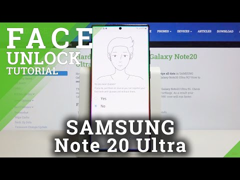 How to Enable Face Unlock in SAMSUNG Galaxy Note 20 Ultra – Face Recognition