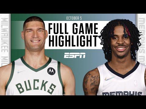 Milwaukee Bucks at Memphis Grizzlies   Full Game Highlights