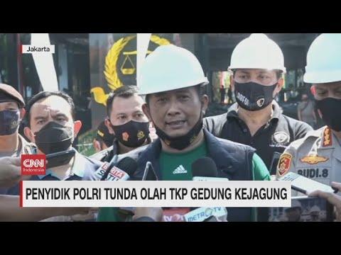 Penyidik Polri Tunda Olah TKP Gedung Kejagung