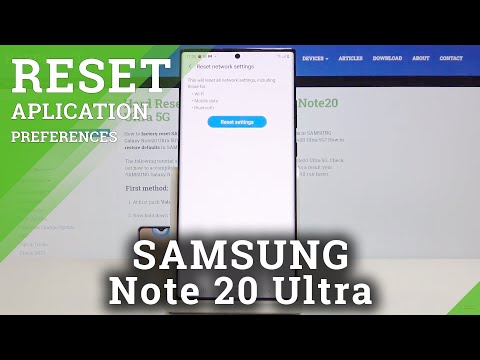 How to Reset Network Settings in SAMSUNG Galaxy Note 20 Ultra – Network Configuration