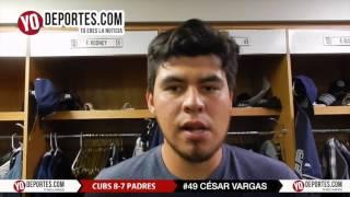 Cubs castigan al mexicano Cesar Vargas de Padres de San Diego