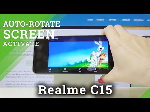 How to Rotate Screen in REALME C15 – Turn Screen