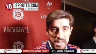 Veljko Paunovic Chicago Fire Kickoff Luncheon