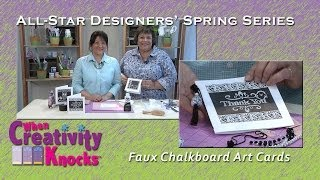 All-Star Designer Spring Series: Faux Chalkboard Art Card