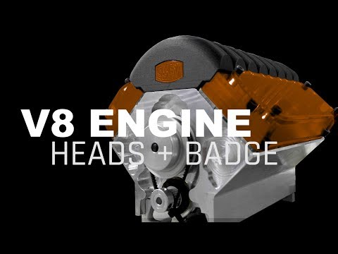 CNC Machining V8 Engine Heads and Badge Pins | WW221
