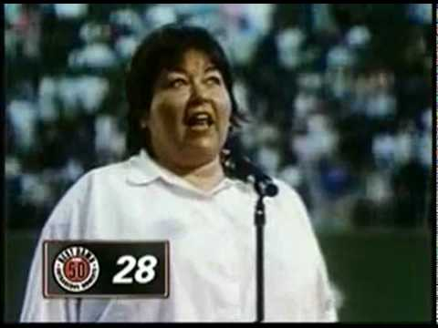 Roseanne Barr singing national anthem