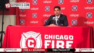 Veljko Paunovic Chicago Fire 4-1 Seattle Sounders