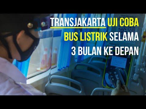 TransJakarta Uji Coba Bus Listrik untuk Masyarakat