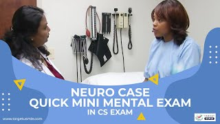 Mini Mental Status Exam (MMSE) - Physical Exam