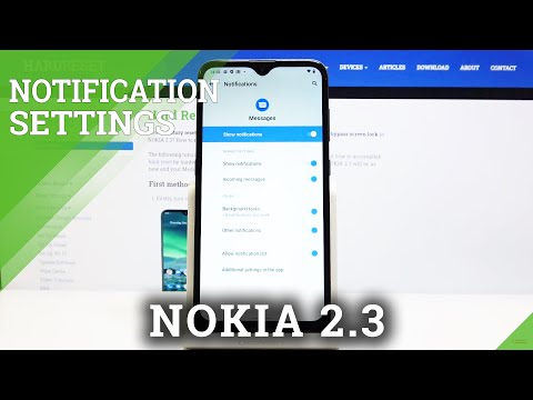 How to Manage Messages Notifications in NOKIA 2.3 – Notification Settings