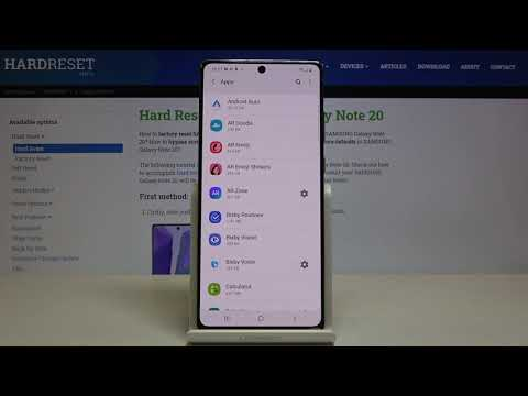 How to Reset App Preferences in SAMSUNG Galaxy Note 20 – Restore App Settings