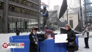 Ernie Banks recibe homenaje en Daley Plaza de Chicago