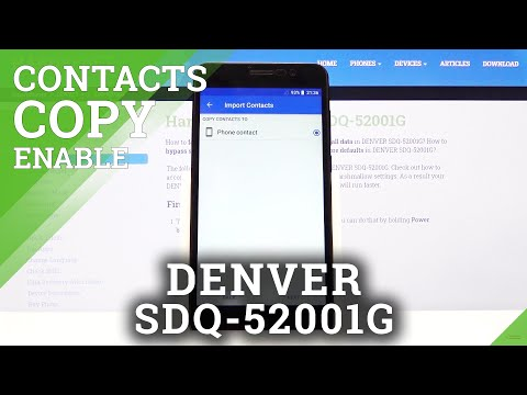 How to Copy Contacts in DENVER SDQ-52001G - Move Numbers