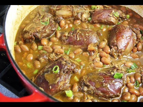 Romano Beans With Stewed Chicken #TastyTuesdays | CaribbeanPot.com