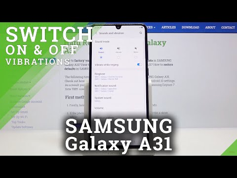 How to Enable Vibrations in Samsung Galaxy A31 – Deactivate Vibrations