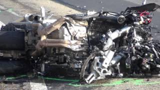 Video- Tödlicher Verkehrsunfall auf L579 mit Motorradfahrer nahe Boxberg