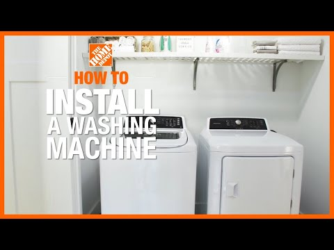 how to install a washing machine the