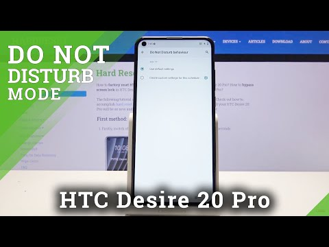 How to Activate Do Not Disturb Mode in HTC Desire 20 Pro – Enable DND Mode