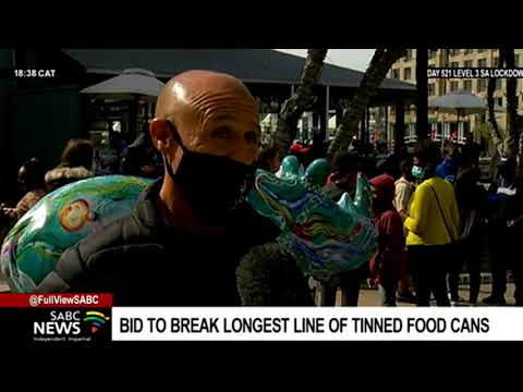 Building the longest line of tinned food cans - a bid to smash the Guinness World Record