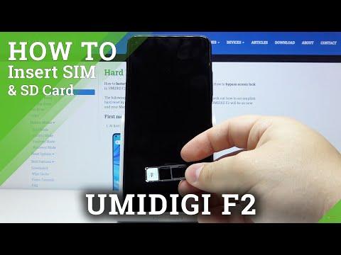 Micro SD & Nano SIM Installation in UMIDIGI F2 - Insert SD and SIM Cards