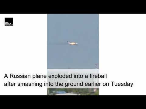 Watch | Russian plane plummets to the ground, three dead