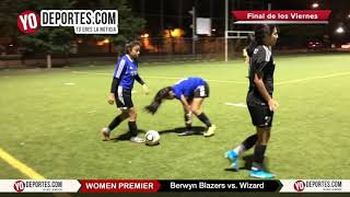 Berwyn Blazers vs. Wizard Chicago Women Premier Final del Viernes