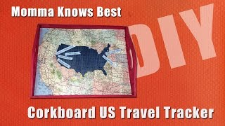 Corkboard US Travel Tracker