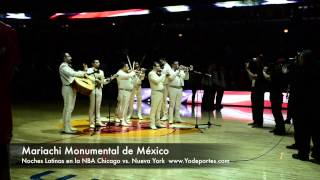 Mariachi Monumental de Mexico con los Chicago Bulls