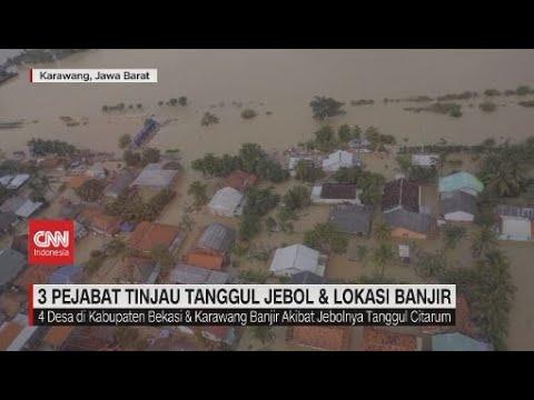 3 Pejabat Tinjau Tanggul Jebol & Lokasi Banjir