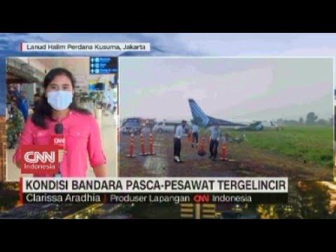 Kondisi Bandara Halim Pasca Pesawat Trigana Air Tergelincir