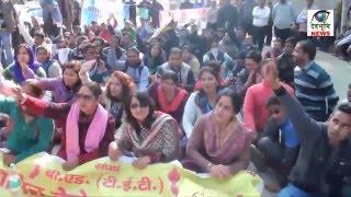 देहरादून मे बीएड टीईटी बेरोज़गार संगठन ने निकाली रैली