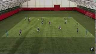 Soccer Coaching: Forward Runs Technical Warm Up