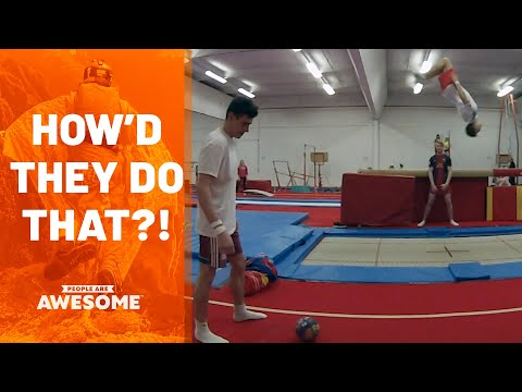 Extreme Trampoline Flips | How'd They Do That?!