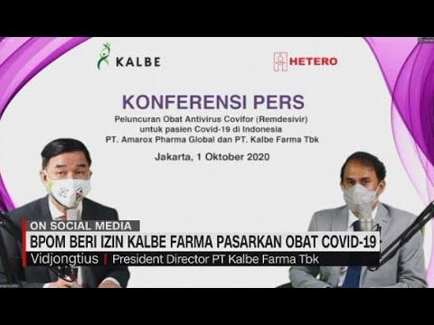 BPOM Beri Izin Kalbe Farma Pasarkan Obat Covid-19