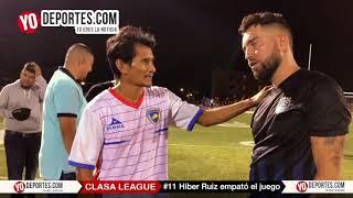 Hiber Ruiz autor del gol del empate Real Celaya vs Nacional CLASA League