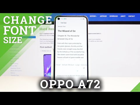 How to Change Font Size in Oppo A72 - Adjust Display Layout