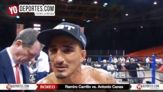 Antonio Canas busca volver a pelear contra Ramiro