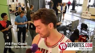 Bulls Media Day a Pau Gasol lo trajo Derrick Rose a los Chicago Bulls