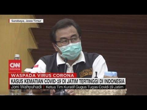 Kasus Kematian Covid-19 Jatim Tertinggi di Indonesia