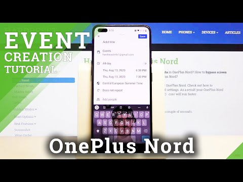 How to Add Event to Calendar in OnePlus Nord – Reminder Settings