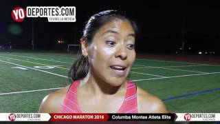 Columba Montes madre, coach y elite en Chicago Marathon