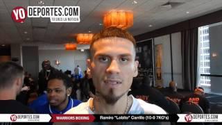 Ramiro Lobito Carrillo vs. Jorge Luis Munguia  Warriors Boxing Pesaje