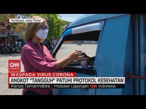 Angkot 'Tangguh' Patuhi Protokol Kesehatan