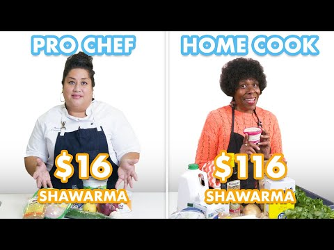 $116 vs $16 Shawarma: Pro Chef & Home Cook Swap Ingredients | Epicurious