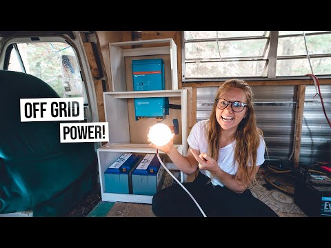 Starting Our Custom Built OFF-GRID Electrical System! - RV Renovation PART 12