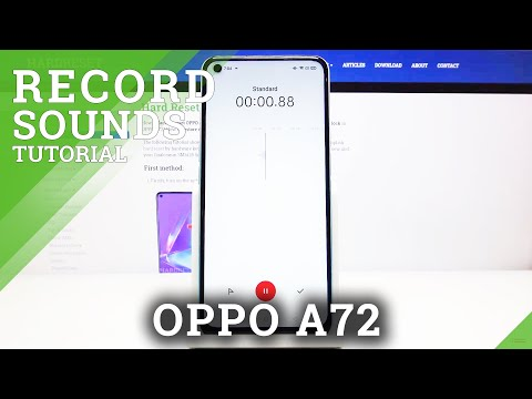 How to Use Voice Recorder in OPPO A72  - Record Sounds in OPPO