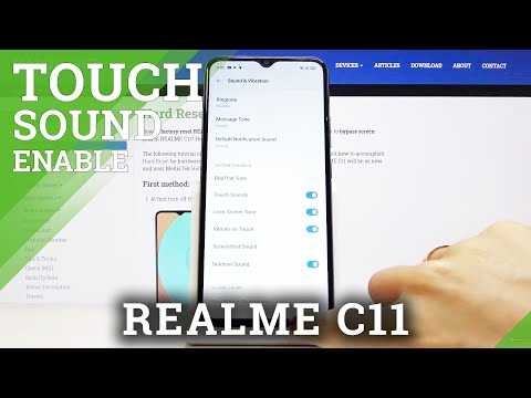 How to Disable or Enable Touch Sounds in REALME C11 - Touch Tone