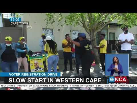 Voter Registration Drive   Slow start in Western Cape